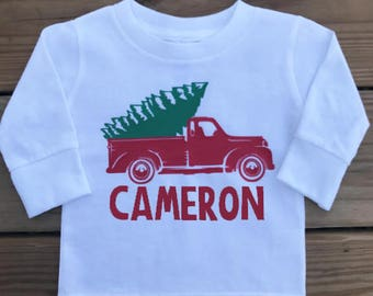 Personalized Christmas Truck Shirt / Christmas Tree