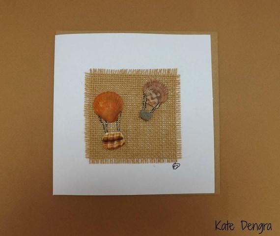 Shell Hot Air Balloon Greetings Card