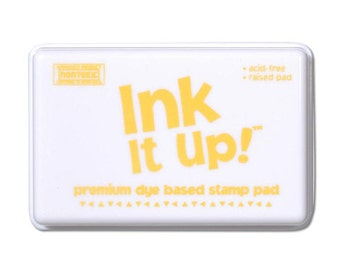 Bright Yellow Ink It Up Stamp Pad Scrapbooking or Card Making birthday cards crafts papercrafting rubber stamps stamping