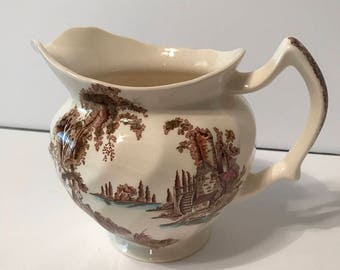 Johnson Bros The Old Mill small pitcher / creamer.