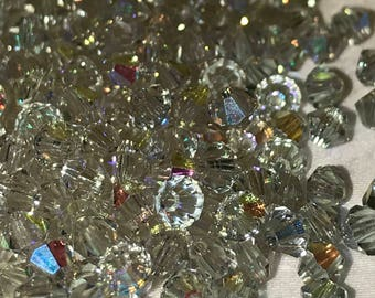 Cantaloupe 72pc Swarovski 4mm 5301 Cantaloupe AB Bicone Crystal Beads Color Changing Beads Color Changing Crystal Swarovski Color Changing