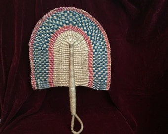 Vintage Straw Fan from MAGIC CITY TV Series