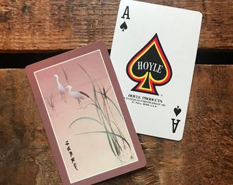 Vintage Herons Playing Card Deck - Full Deck - Paper Ephemera, Vintage Scrapbook, Vintage Playing Cards, Hoyle Cards, Deck of Cards