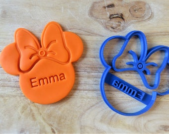 Personalized Mini Mouse Cookie Cutter | Birthday Cookie Cutter | 3D Printed Custom Cookie Cutter | Fondant Cutter