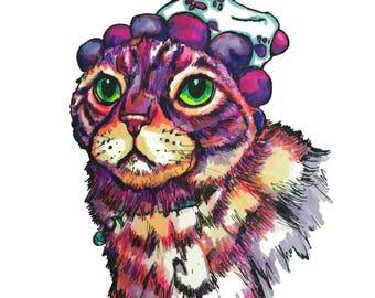 Pet Portraits | Cat Portrait | Custom animal art