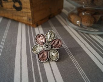 Nespresso ring pink flower