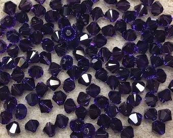Purple Velvet 5328 Bicone Swarovski Crystal Beads 4mm