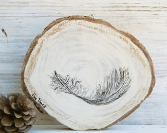Farmhouse wall decor, Country decor, Natural print, Feather print, Feather art, Pallet sign, Rustic wall art, Wood sign, Black and white,