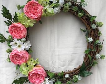 Everyday Wreath, Summer Wreath, Spring Wreath, Front Door Wreath, Grapevine Wreath, Wreath, Door Wreath, Flower Wreath