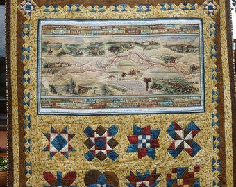 Pony Express Commemorative Lap Quilt --FREE SHIPPING