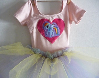 RAINBOW DASH Leotard Tutu - Rainbow Dash Tutu - My Little Pony Birthday Party - Twilight Sparkle - Pinkie Pie