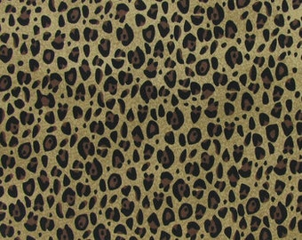 Cheetah print  fabric  quilting apparel cotton  Fat Quarter, 1/2 yard or by the yard   fabric  cotton fabric