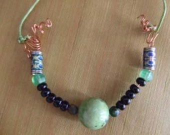 Green Eight Ball Necklace