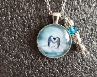 Handmade penguin Necklace with Charm