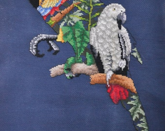 Spirit of Nature Series - Macaw - Finished Counted Cross Stitch