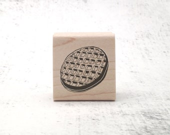 The Eleven's Waffle Stamp - Stranger Things Inspired - Eggo -y Rubber Stamp - Pen Pal Stationary