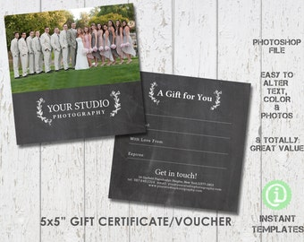 This item is unavailable photography gift certificate template photoshop template g1f003 youll receive 2 files yadclub Image collections