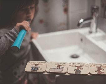 Routine for the bathroom - Boreal pajamas!