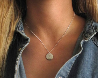 Personalized Coin Necklace - Engraved Necklace - Personalized Necklace - Custom Necklace - Perosnlaize Gift - Personalized Silver Necklace