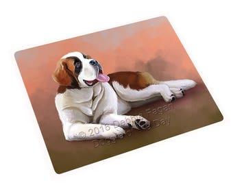 Saint Bernard Dog Art Portrait Print Throw Blanket