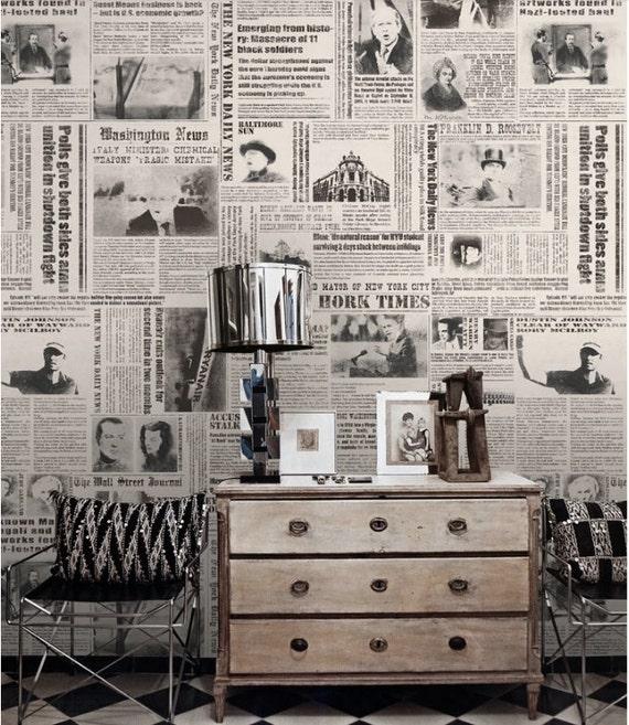 Tapete Zeitung zeitung tapete york times nostalgische wand schwarz