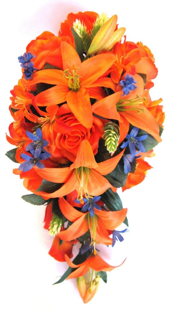 Wedding Bouquets Bridal Bouquet Wedding Silk flowers 17 Piece