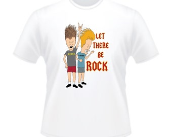 Retro MTV Beavis And Butt-Head AC/DC Let There Be Rock T-Shirt