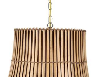 Upgradelights All Natural Bamboo 19 Inch Swag Lamp Shade