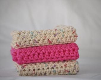Dishcloths - Washcloths - Crochet Dishcloth Set - Crochet Cotton Dishcloths - Cotton Dishcloths - Crochet Dishcloths - Crochet Washcloth