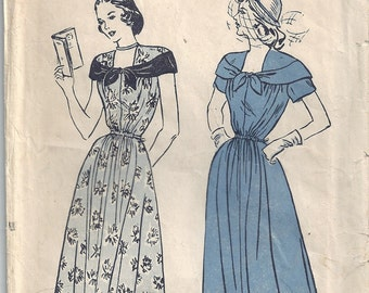 Vintage 1940s Butterick Sewing Pattern 4550 Misses Maternity Dress Size 16