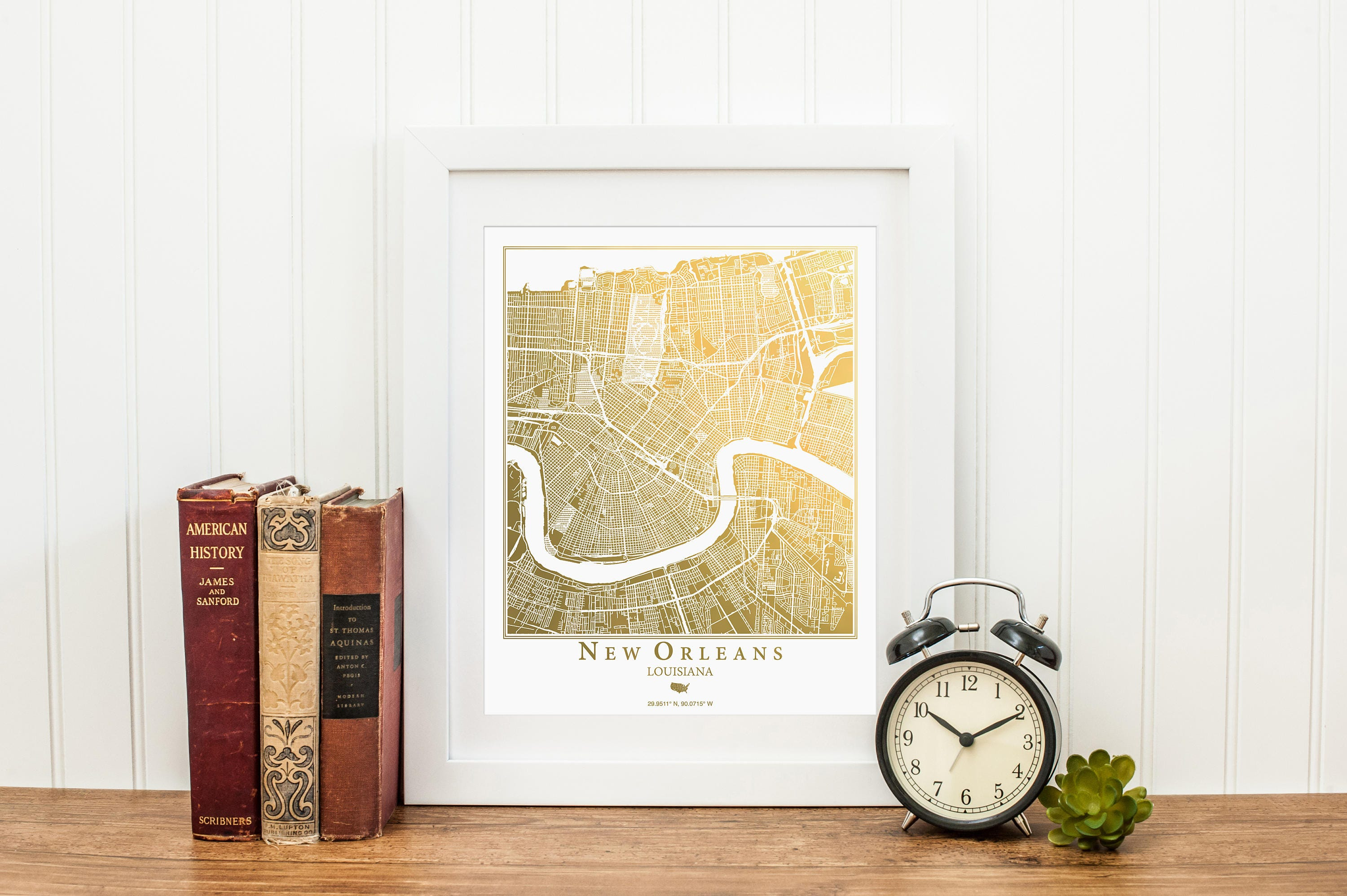 New Orleans Map Map Wall Art Gold Foil Map™ Gold Foil