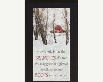 Sale Our Family Branches Of A Tree Framed Picture
