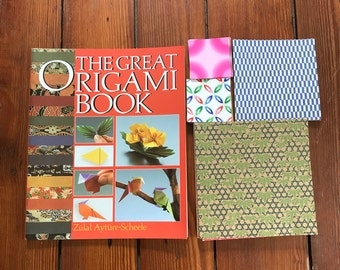 The Great Origami Book and Origami Papers Gift Set