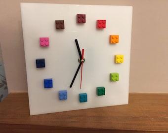 Bespoke clock made with LEGO® bricks