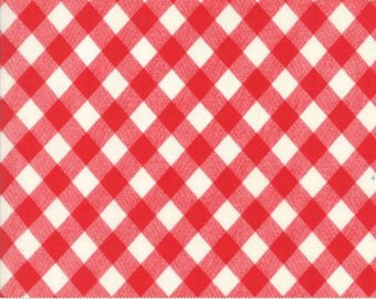 Bonnie & Camille BASICS Red Gingham Check, 55124 31, Moda Fabric, Sold in Half Yard Amounts