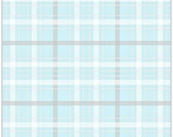 extra15 30% OFF  Simple Simon & Company When Skies are Grey Plaid Blue