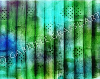 FINEARTPRINT Abstract Style Bamboo design