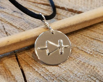 Diode Symbol Necklace, Diode Pendant, Electronics Science Jewelry, Electrical Engineer Nerd Necklace,Science Teacher Gift, Geekery, Physics