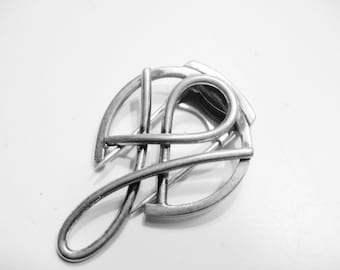 NAPIER Sterling Art Moderne Dress Clip, 1940s Sterling Dress Clip, Sterling Fur Clip