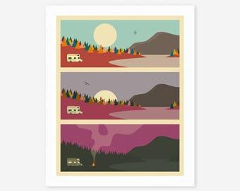 CAMPFIRE (Giclée Fine Art Print/Photo Print/Poster Print) by Jazzberry Blue