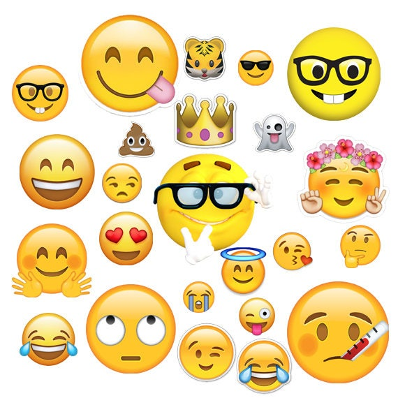 Instant Dwnload Emoji Clipart Birthday
