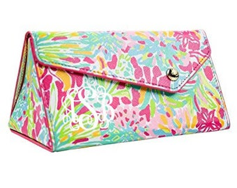 cacfc5b2ef Lilly Pulitzer Monogrammed Pencil Cosmetic Case She She Shells
