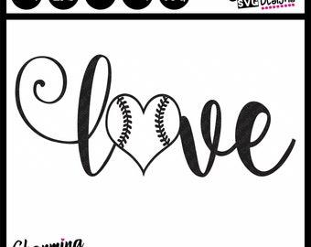 Love Baseball SVG, Love Softball SVG, Baseball Mom SVG Cut File, Softball Mom svg Cut File, Baseball Mom dxf,silhouette cut file,Cricut svg