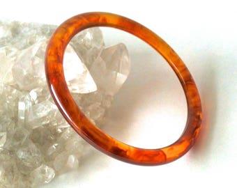 Beautiful Vintage Amber Swirl Bakelite Bangle Bracelet Tested