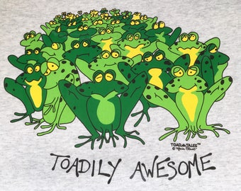 Frog T shirt, Toadaly Awesome frog shirt with frogs goofy fun frogs.