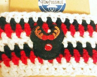 Reindeer Mouse Crochet Coffee Cup Cozy
