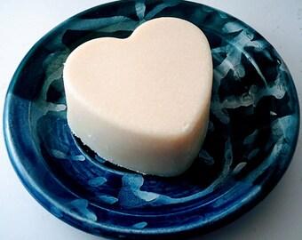 Lavender Spearmint Salt Soap Heart