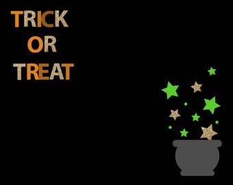 TRICK OR TREAT - Halloween Print - Digital