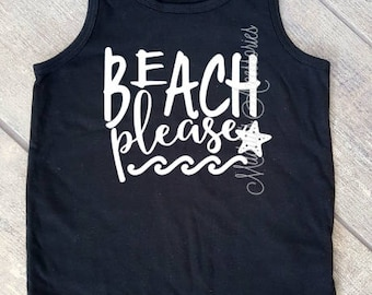 Beach Please - toddler tank top - size 3T - child/baby accessories