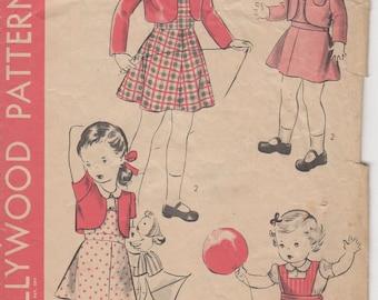 """SZ des années 1930-3 enfant cavalier, boléro et chemisier 1511 Hollywood poitrine 22"""""""